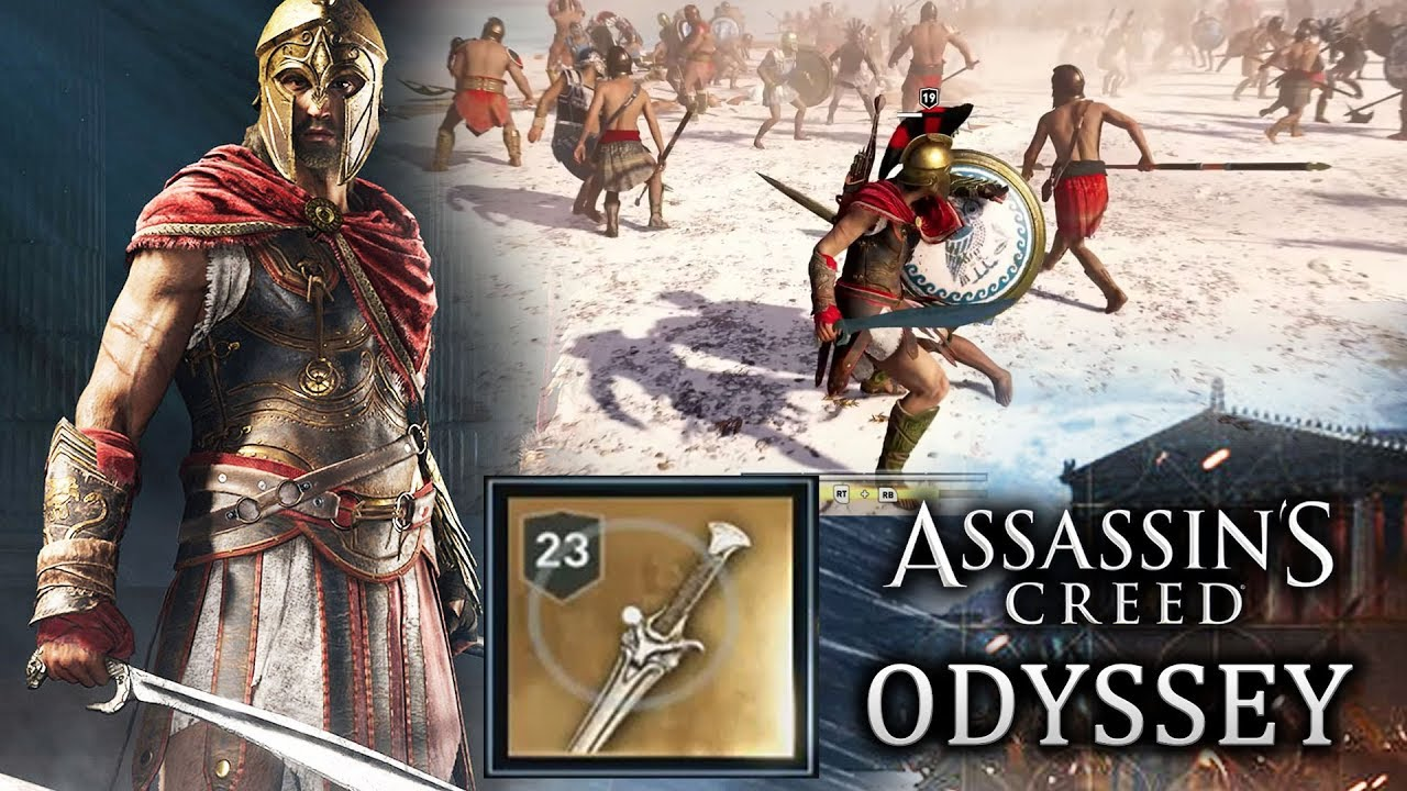 assassin s creed odyssey legendary sword and weapons new combat