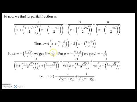 Recurrence Relations Part 15 Fibonacci Sequence.