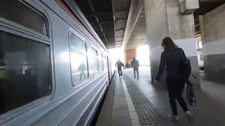 ЭД4М 0289 маршрут Москва   Рязань 1  Train ED4M 0289 Route Moscow   Ryazan 1