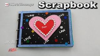 How to make a Scrapbook |  DIY Scrapbook Tutorial |  Valentine's Day Gift Idea | JK Arts 1177
