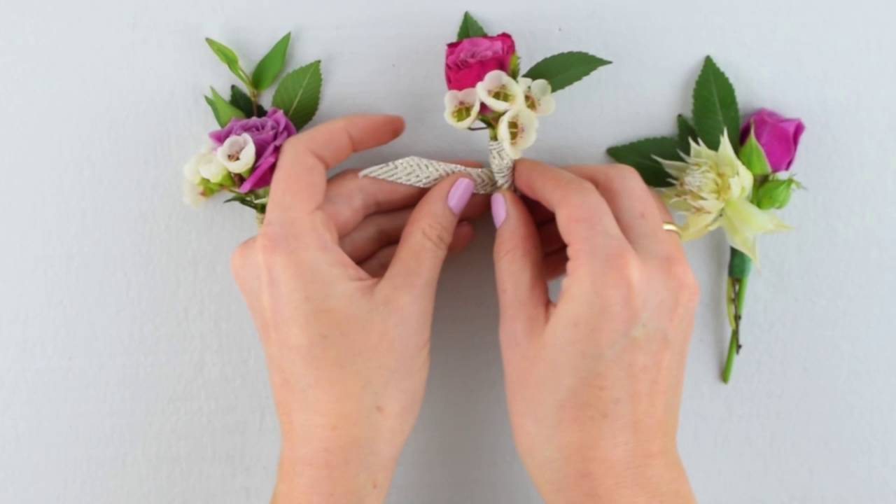 Easy Diy Boutonniere By Flower Moxie Super Fast Tutorial Youtube