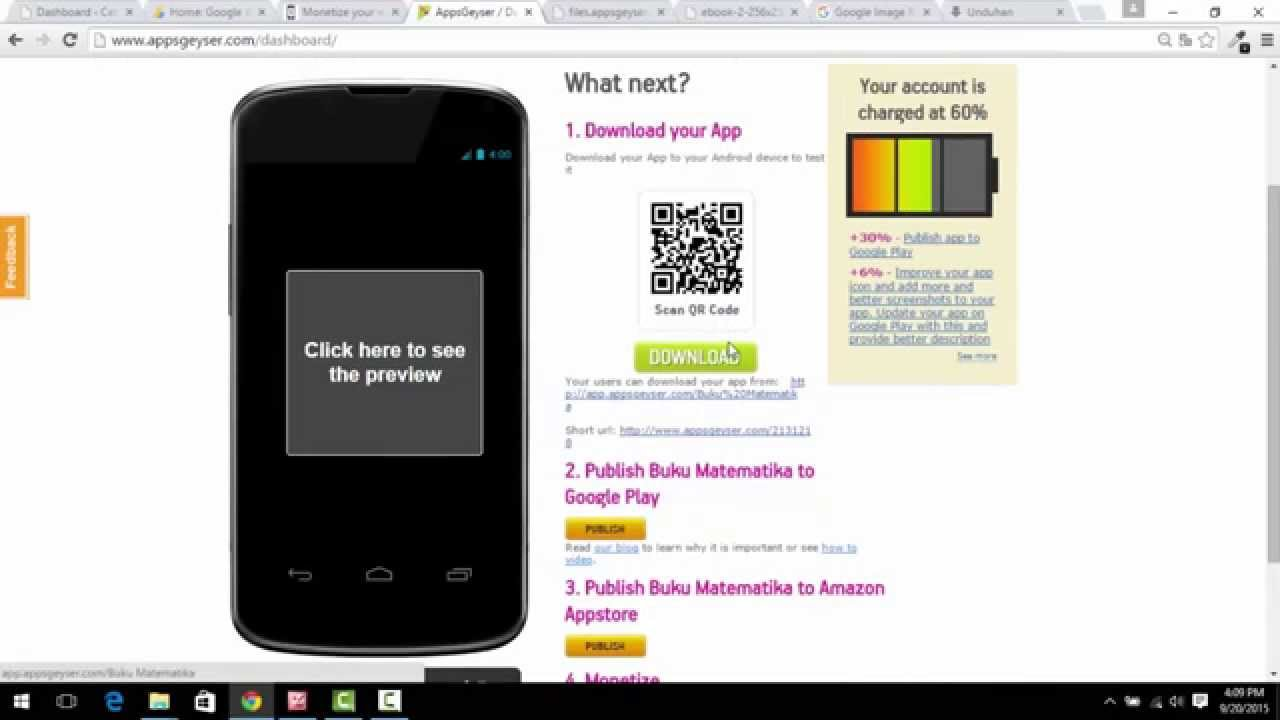 Cara Membuat Aplikasi Android Tanpa Coding Dengan AppsGeyser - YouTube