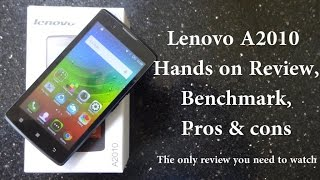 Lenovo A2010 Review,Benchmark,Pros & Cons,The only review you need to watch!! | Techconfigurations