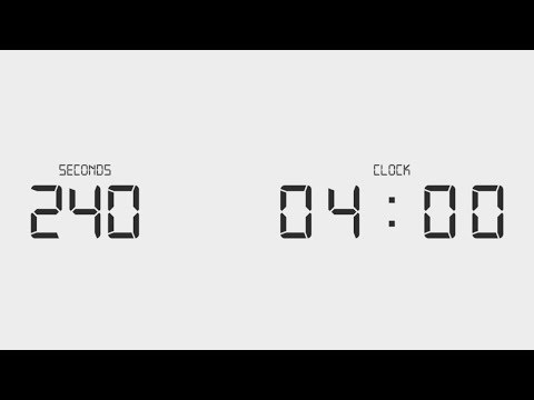 4 Minutes Digital Countdown Clock   240 Seconds Timer - YouTube