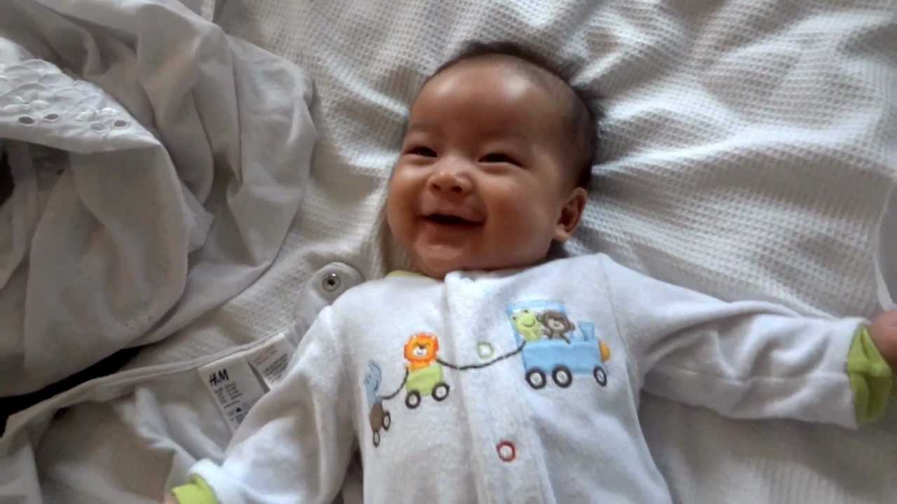 Three Month Old Baby Laughing