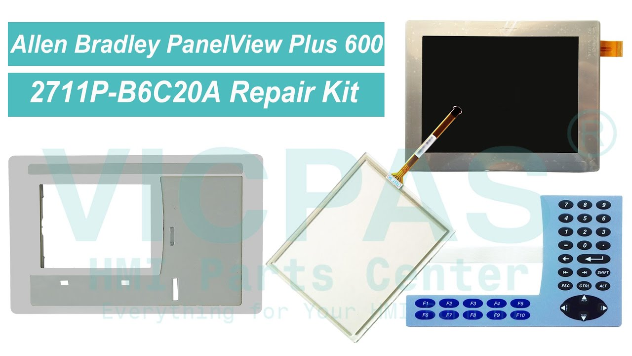 Membrane switch for AB 2711P-B6C8D PanelView Plus 600