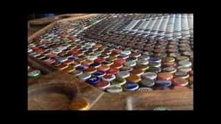 Epoxy Resin Bottle Cap Poker Table