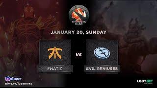 Fnatic vs Evil Geniuses Game 1 (BO3) The Chongqing Major Groupstage