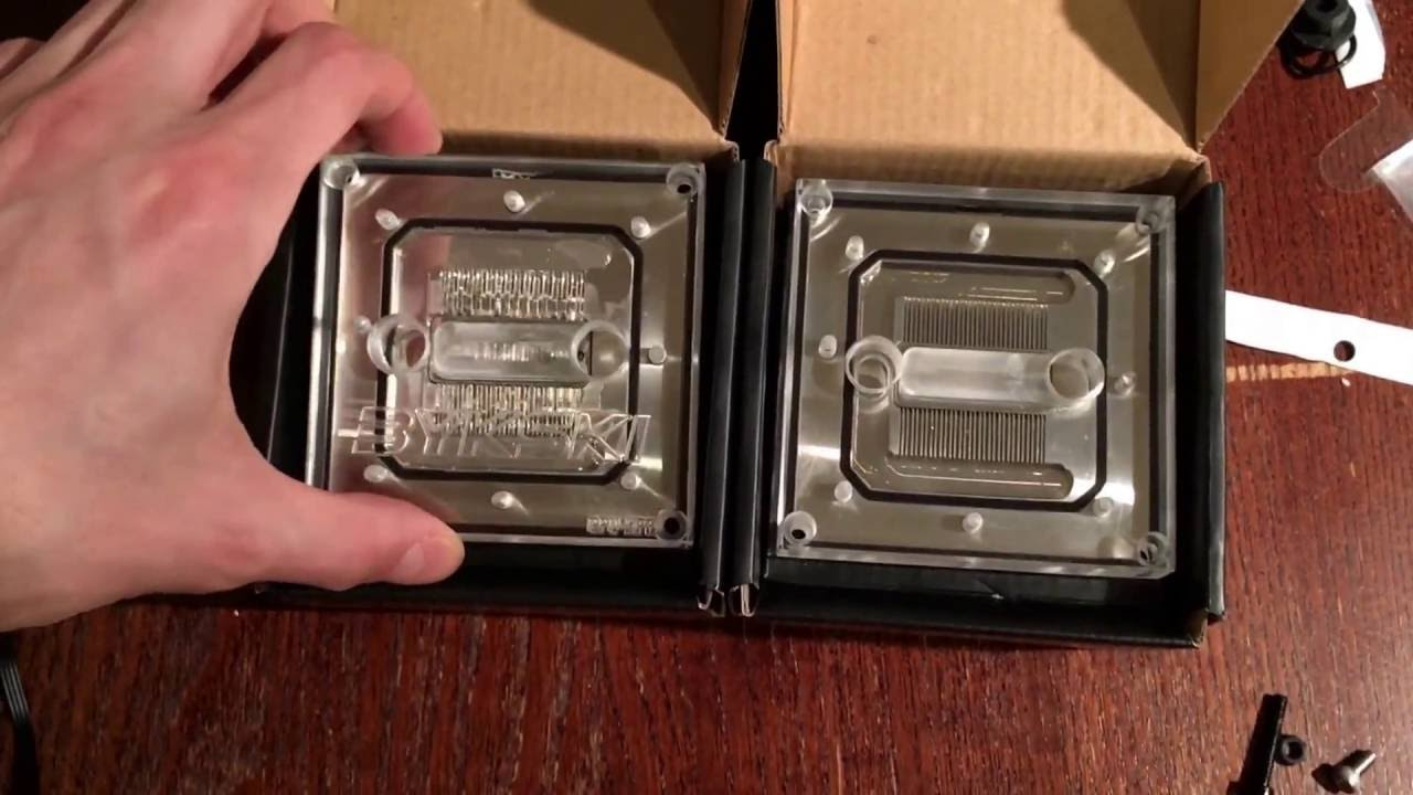[unboxing] BYKSKI 2016 Liquid Cooling waterblock CPU-XPR-A for Intel  2011-v3 and 1150/1156