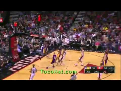 Los Angeles Lakers at Portland Trail Blazers recap  April 10 , 2013  NBA  4/10/2013 Basketball