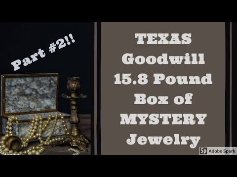 GOODWILL TEXAS 15.8 POUND BOX Of MYSTERY JEWELRY Part #2 Unboxing Unjarring Unpacking Silver? Gold?