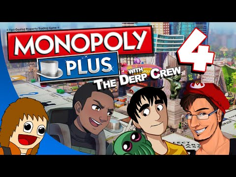 Monopoly Plus w/ The Derp Crew - Can't Evict Ping Pong Players: Part 4