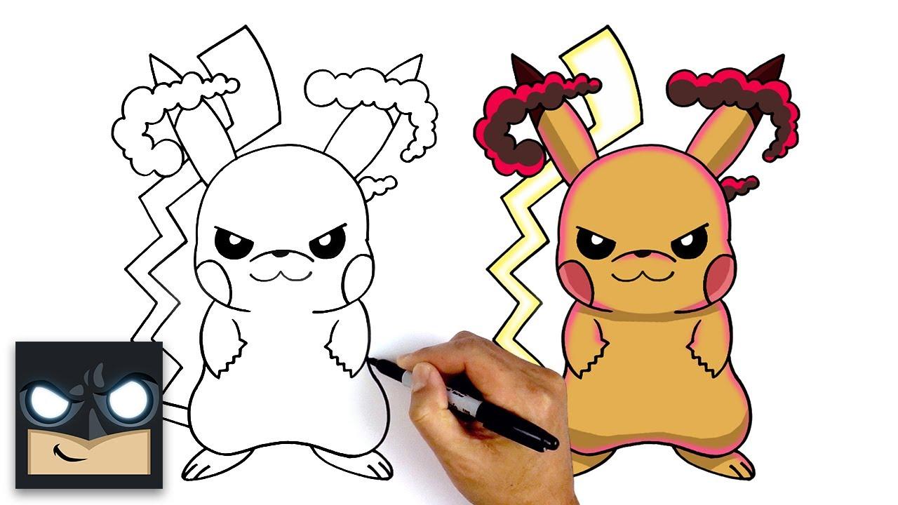 How To Draw Gigantamax Pikachu | Pokemon Sword and Shield ...