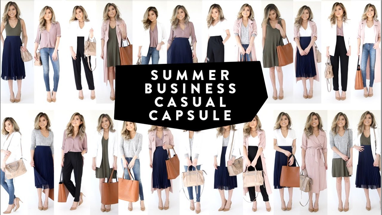 10 Pieces = 25 Looks | 2017 Summer Business Casual Wardrobe Minimalist | Miss Louie