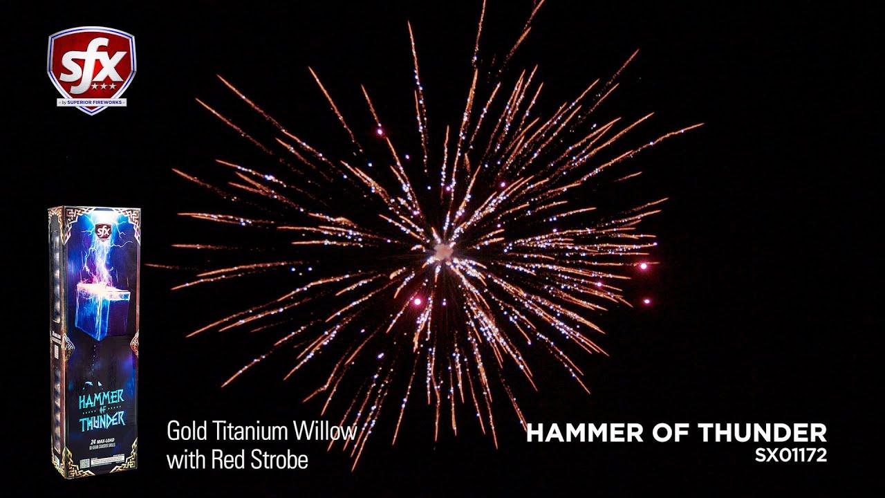 Hammer of Thunder, Premium 60-Gram Artillery Shells by SFX Fireworks | Superior Fireworks