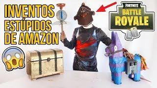 3 Inventos MUY ESTÚPIDOS de AMAZON - DISFRACES DE FORTNITE