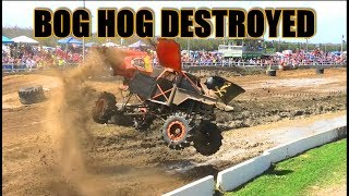 BOG HOG DESTROYED At North VS South Mega Truck Race