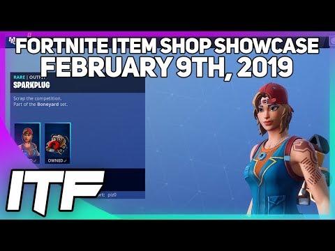 Fortnite Item Shop *NEW* KITBASH AND SPARKPLUG SKIN! [February 9th, 2019] (Fortnite Battle Royale)
