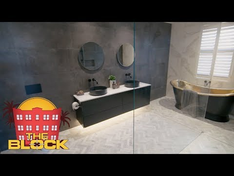 Hayden and Sara's Master Ensuite | The Block 2018