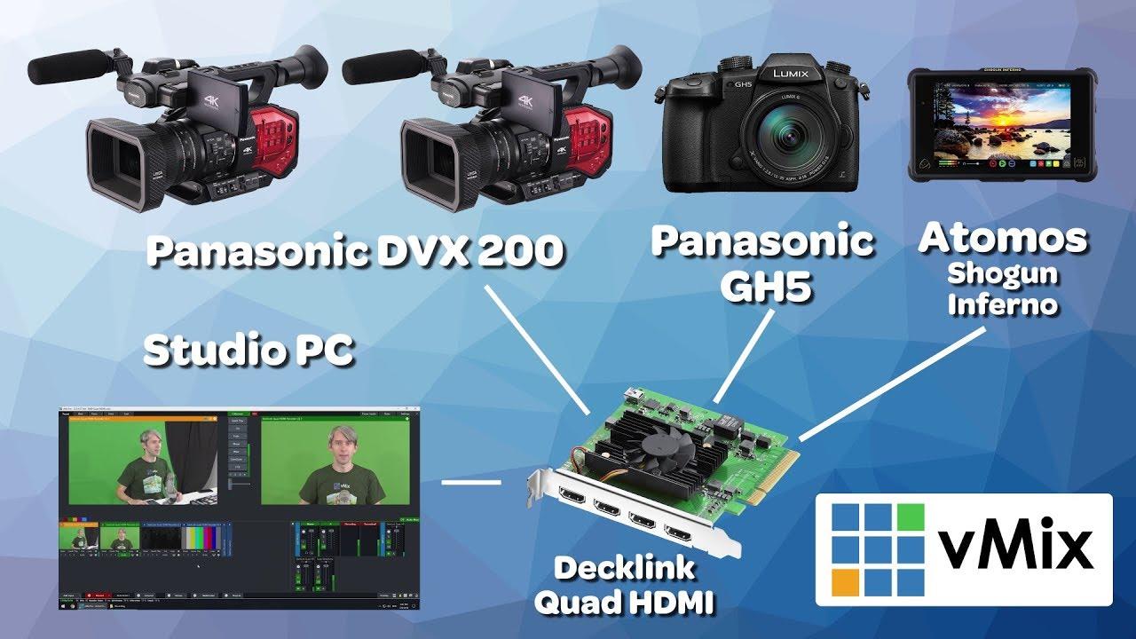 Blackmagic Design Decklink Quad Hdmi Recorder Will It Work With Vmix Youtube