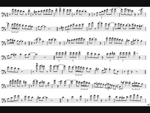 JJ Johnson 'A Night in Tunisia' Trombone Solo Transcription