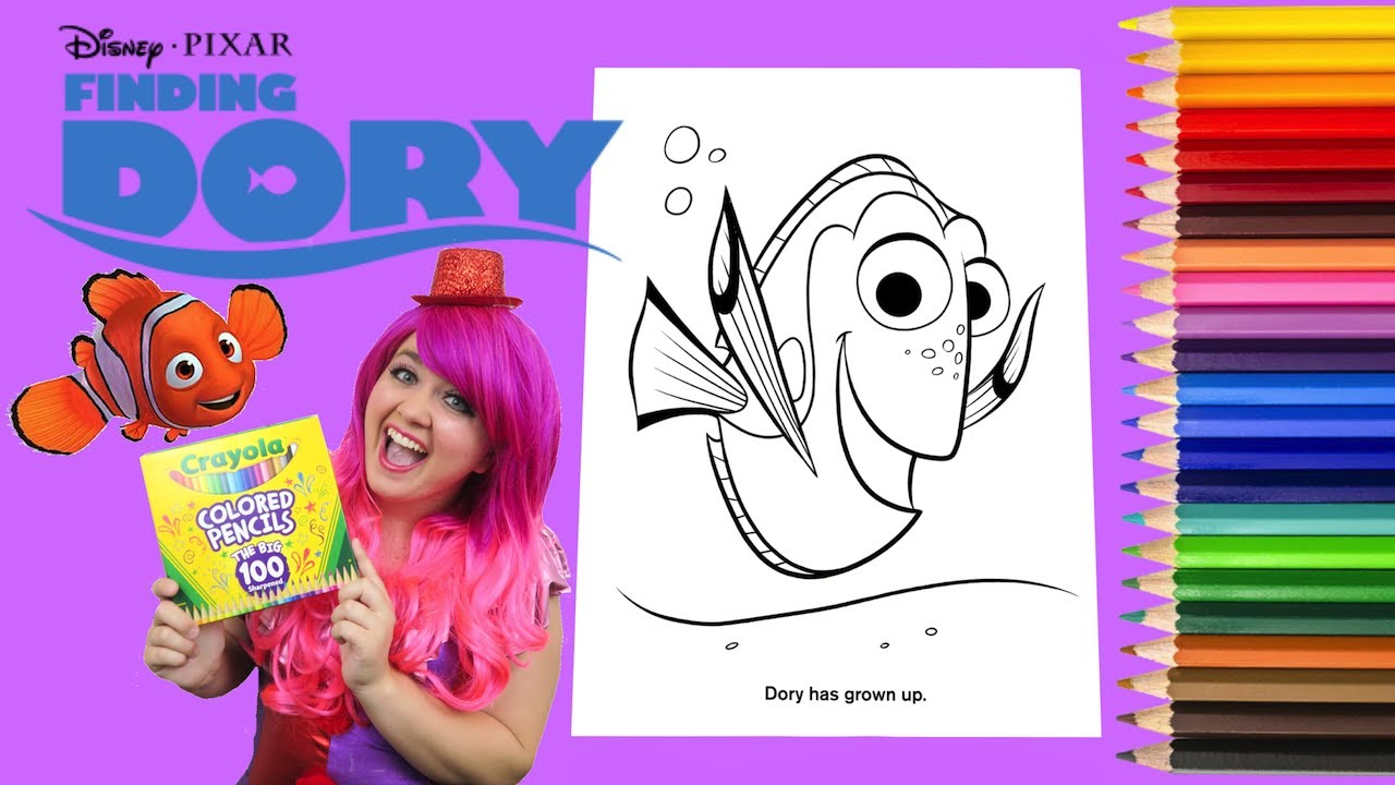 Coloring Dory Disney Finding Dory Coloring Book Page