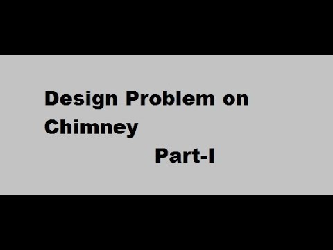 Design problem on Chimney Part I (Working Stress method)