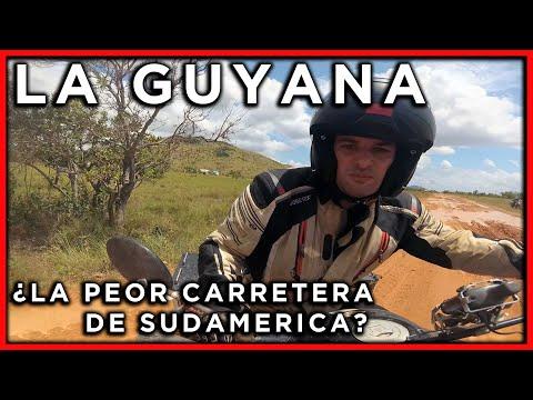 La peor carretera de Sudamerica al Cruzar la Guyana en moto (2ªp) - Ep#25 - Vuelta al Mundo en Moto