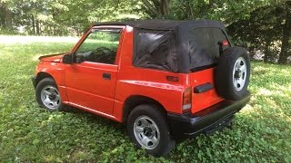 Cleaning up and respraying a Geo Tracker