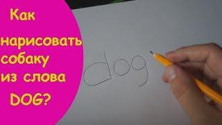 Как нарисовать собаку из слова dog?