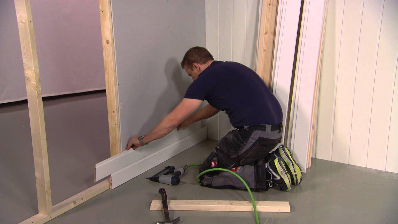 hvordan montere kjokkenplater  : Hvordan montere liggende veggpanel med Sinnasnekker'n