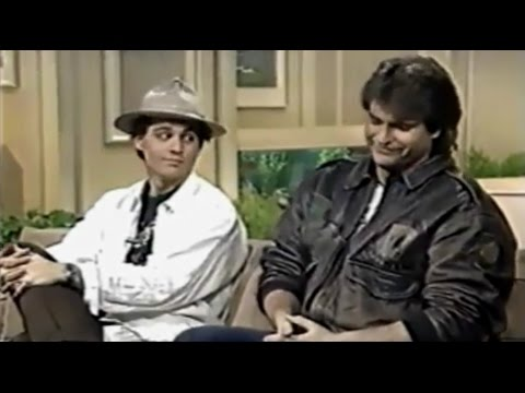 Johnny Depp and Peter DeLuise on NBC  Today 1988