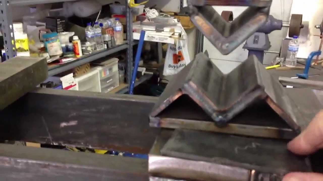 Hydraulic Press Bending Steel Youtube