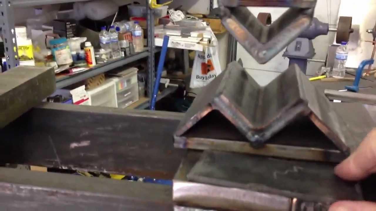 Hydraulic Press Bending Steel Youtube