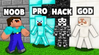 Minecraft Battle: NOOB vs PRO vs HACKER vs GOD: HIDE AND SEEK BLOCK Challenge in Minecraft Animation