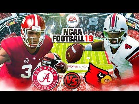 NCAA FOOTBALL 19 🏈(NCAA FOOTBALL 14 2018-2019 ROSTERS!!!) Louisville vs. (1)Alabama Gameplay!!!