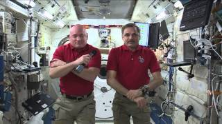One Year Space Station Crew Members Discuss Life in Space