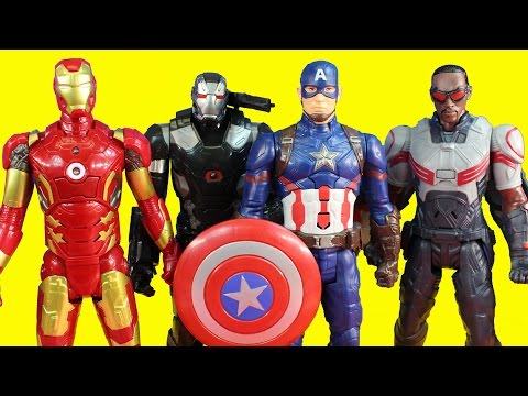 Marvel Avengers Iron Man & War Machine Battle Captain America Civil War And Marvel's Falcon