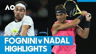 Fabio Fognini vs Rafael Nadal Match Highlights (4R) | Australian Open 2021