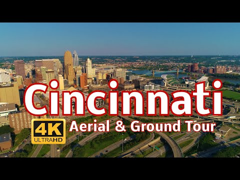 Cincinnati Aerial & Ground Tour In 4k
