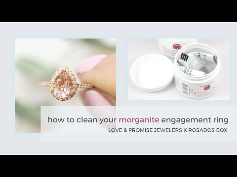 How To Clean Your Engagement Ring | Morganite + Moissanite