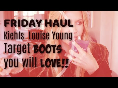Friday Haul~Kiehls Louise Young Target BOOTS you will LOVE!