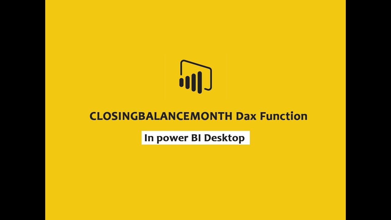 CLOSING BALANCE MONTH function (DAX) - DAX    Power BI Desktop