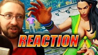 MAX REACTS: Laura Reveal Trailer - Street Fighter 5