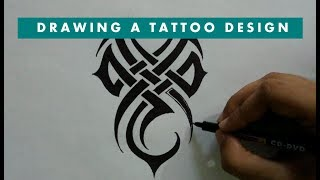 How to Draw Simple Spiky Tribal Tattoo Design