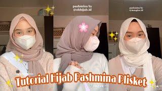 [Viral Tiktok] Tutorial Hijab Pashmina Plisket Mudah & Simple✨🌈