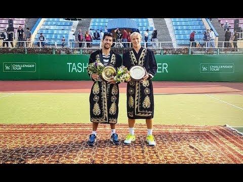 Hans Podlipnik/Andrei Vasilevski vs Bhambri/Sharan - 2017 Tashkent Challenger F (HIGHLIGHTS)