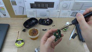 Как легко сделать мышку бесшумной, тихие кнопки у компьютерной мыши, ремонт замена кнопок мыши