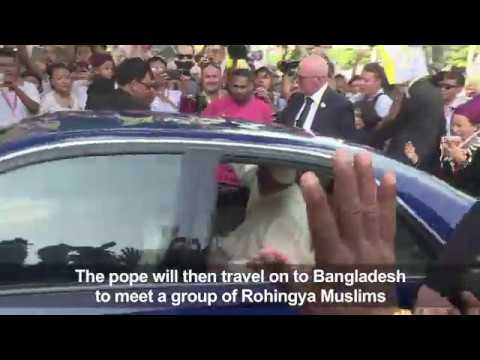 Pope in Myanmar on high-stakes visit