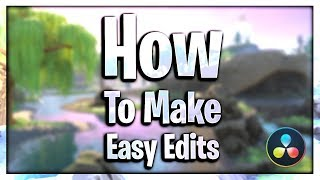 How To Make An Easy Fortnite Montage On DaVinci Resolve!